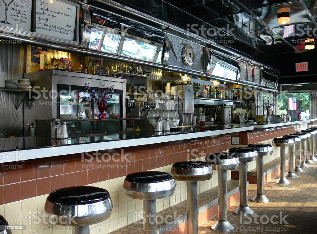 american diner new york stock photo
