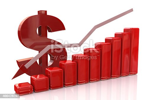618516848istockphoto American dollar and red chart graph down, dollar falling concept 466428292