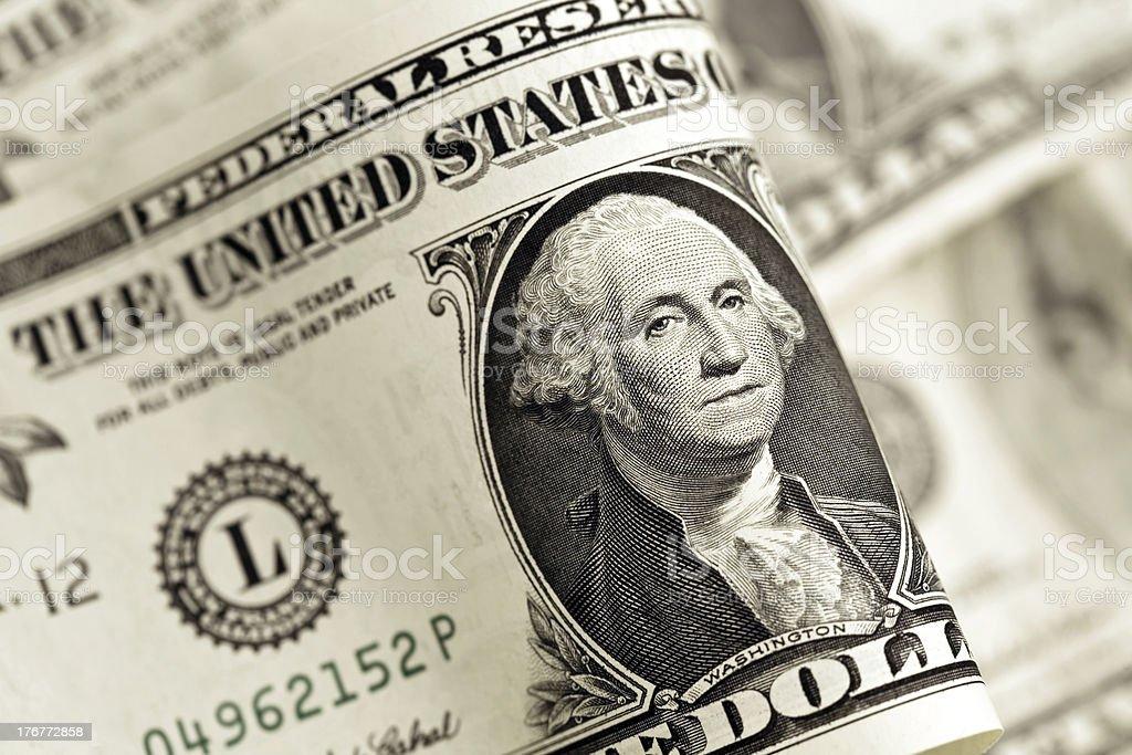 American Dollar Bill royalty-free stock photo