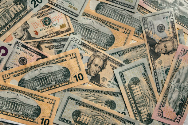 American dollar bills stock photo