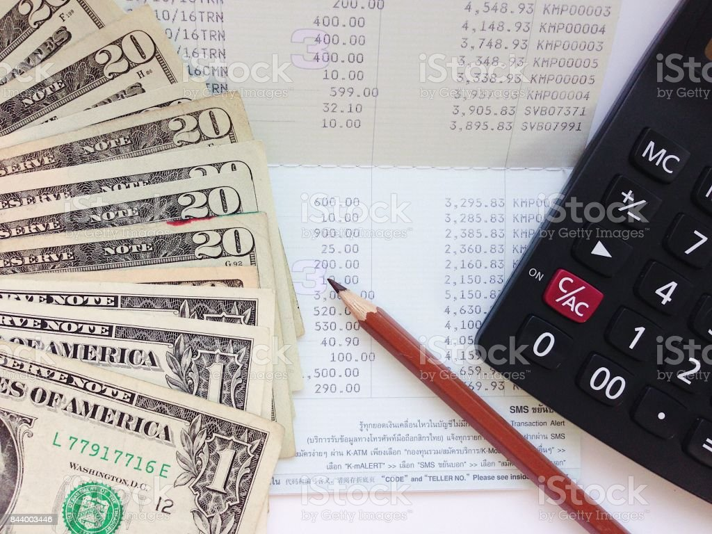 Business, finance, investment, money exchange or accounting concept :...