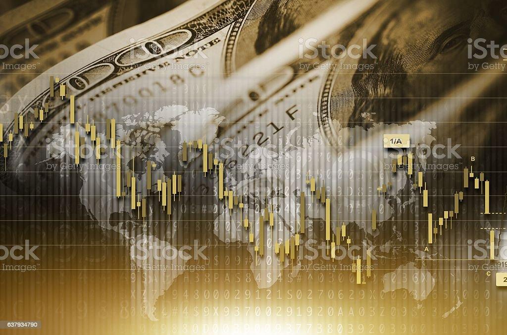 American Dollar Value Concept stock photo