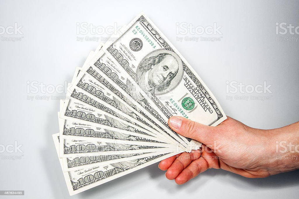 American dollars as a success in business stock photo