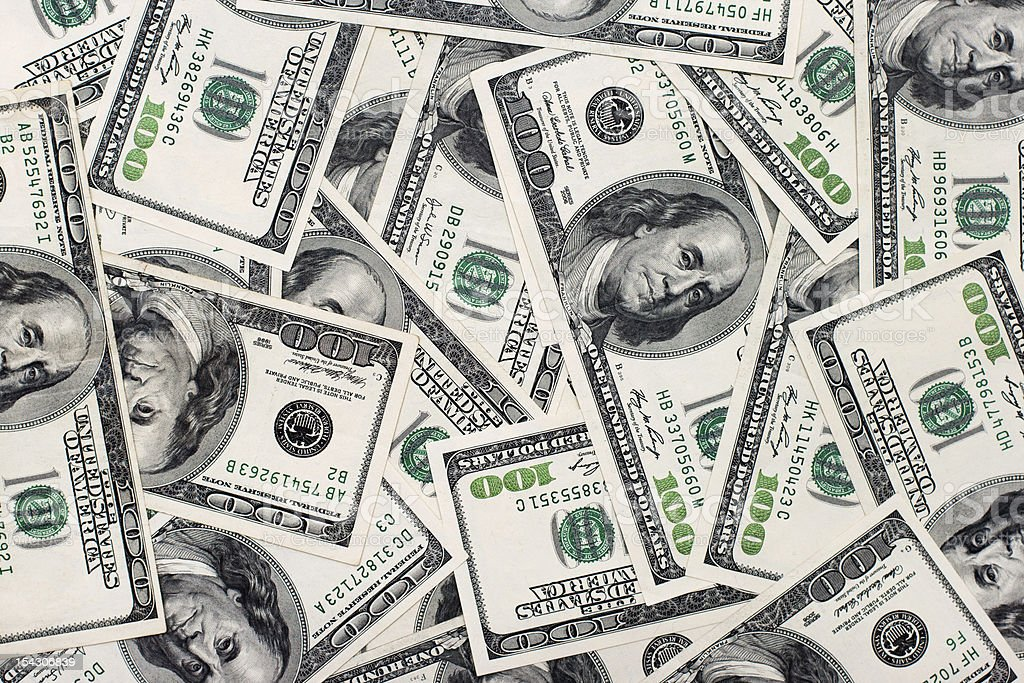 American dollars background. stock photo