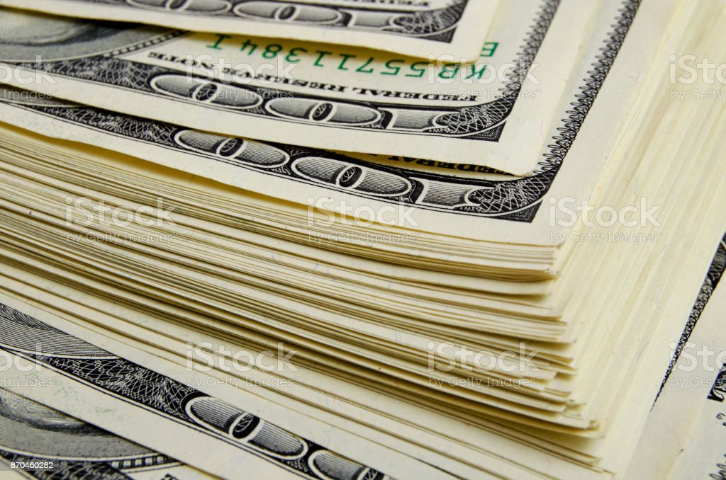 American dollars in cash. stock photo