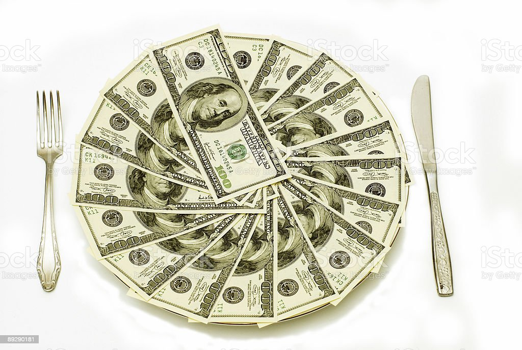 American Dollars in different views royalty-free stock photo