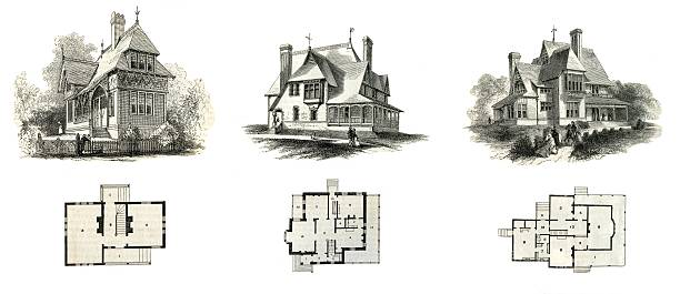 American Dwellings Collection stock photo