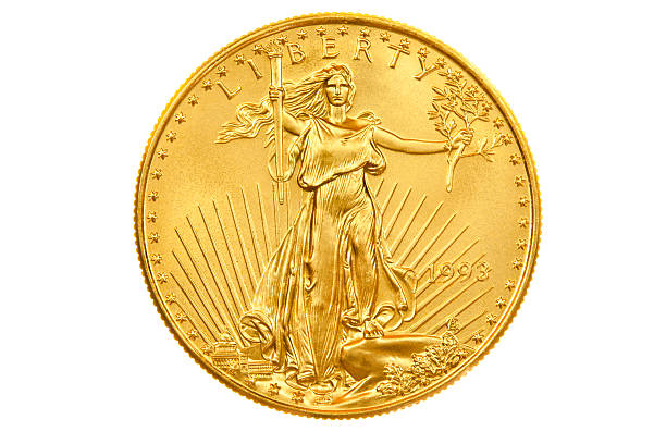 american eagle gold coin bullion investment obverse - coin stock photos and pictures