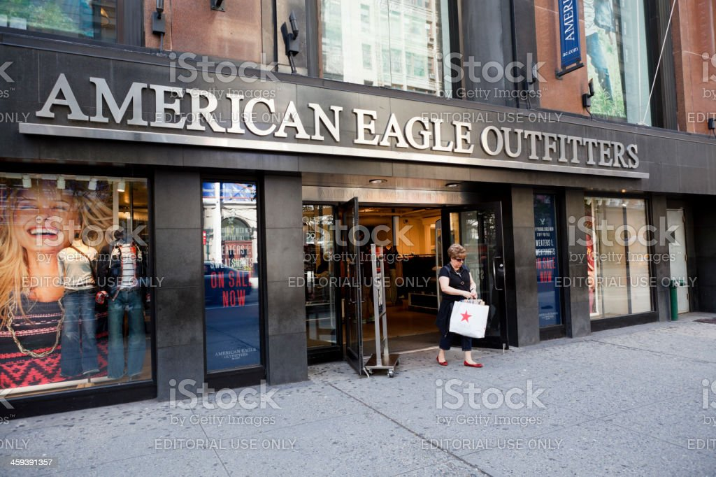 American Eagle Outifitters 34th Street Manhattan Royalty Free Stock Photo