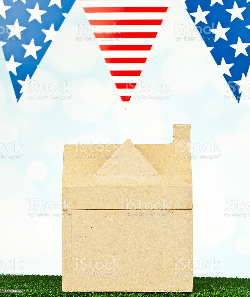 American Eco-House royalty-free stock photo