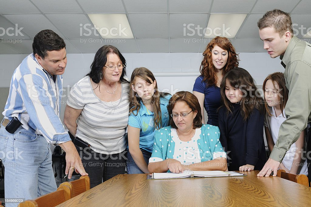 American Education Parent Teacher Conference Group Learning royalty-free stock photo