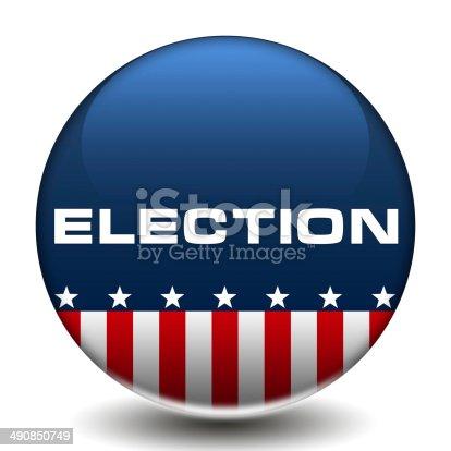 istock American Election icon button 490850749