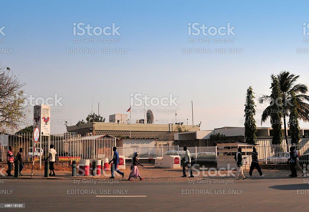 American Embassy, Bujumbura, Burundi stock photo