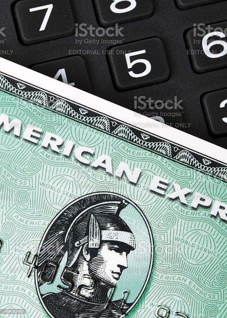 Tarjeta American Express y número de almohadilla - foto de stock