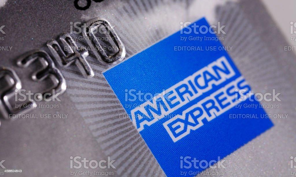 Tarjeta American express extreme close up - foto de stock