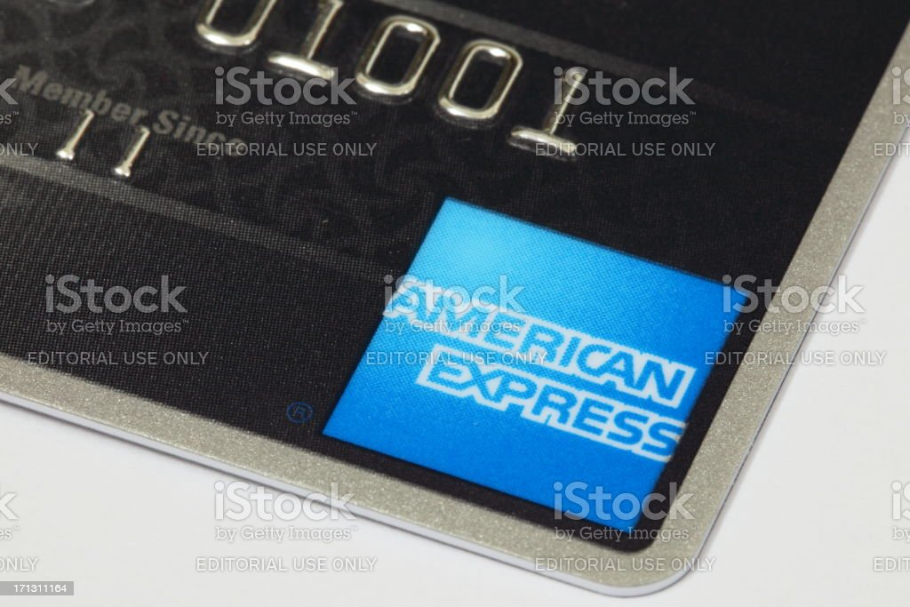 Tarjeta American Express - foto de stock