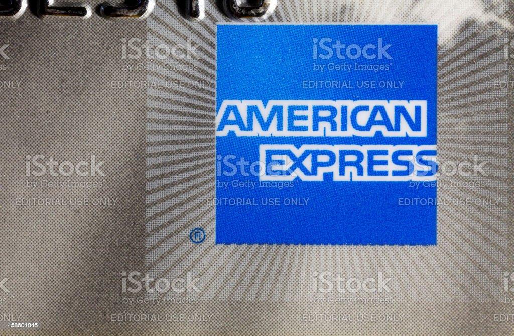 Tarjeta de crédito American express - foto de stock