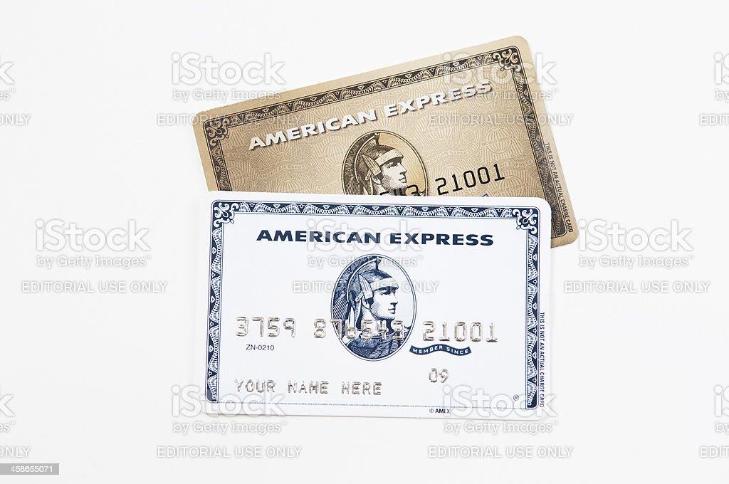 Las tarjetas de crédito American Express - foto de stock