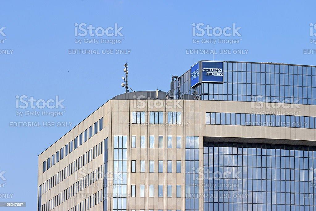American Express Frankfurt oficina - foto de stock