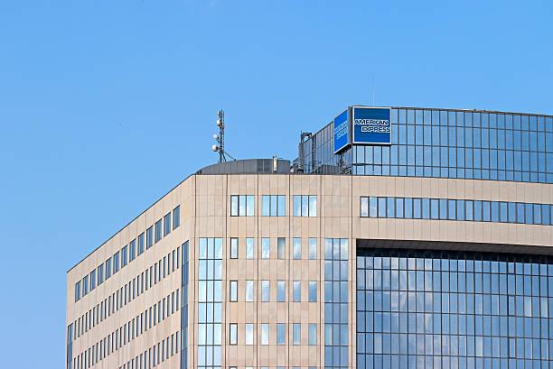 American Express Frankfurt Office stock photo