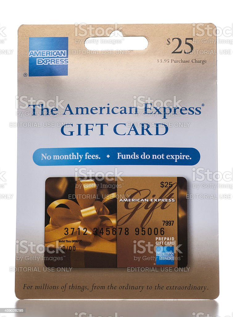 American Express Gift Card display packaging stock photo