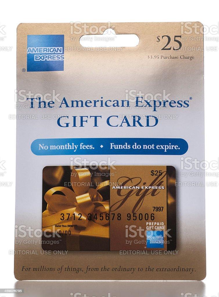 American Express tarjeta de regalo de envasado - foto de stock
