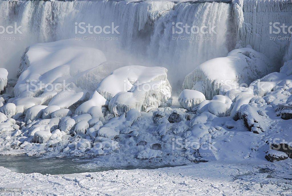 American Falls at Niagara during winter. royalty-free stock photo