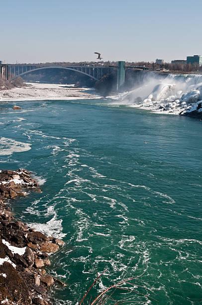 American Falls on Niagara River  rainbow bridge ontario stock pictures, royalty-free photos & images