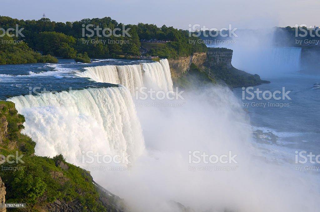 American Falls Overlook at Niagara Atop American Falls from observation deck at Niagara Falls State Park in New York Niagara Falls Stock Photo