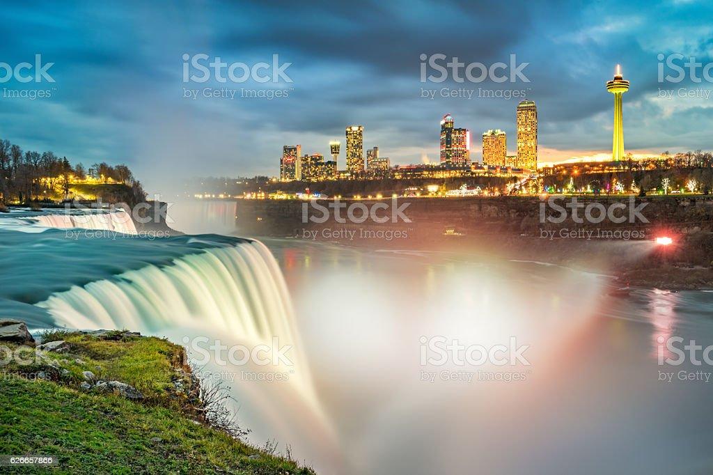 American Falls USA and Niagara Falls Ontario Canada stock photo