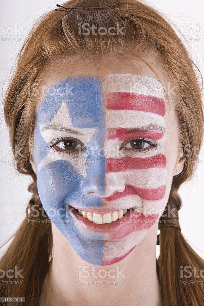 American fan royalty-free stock photo