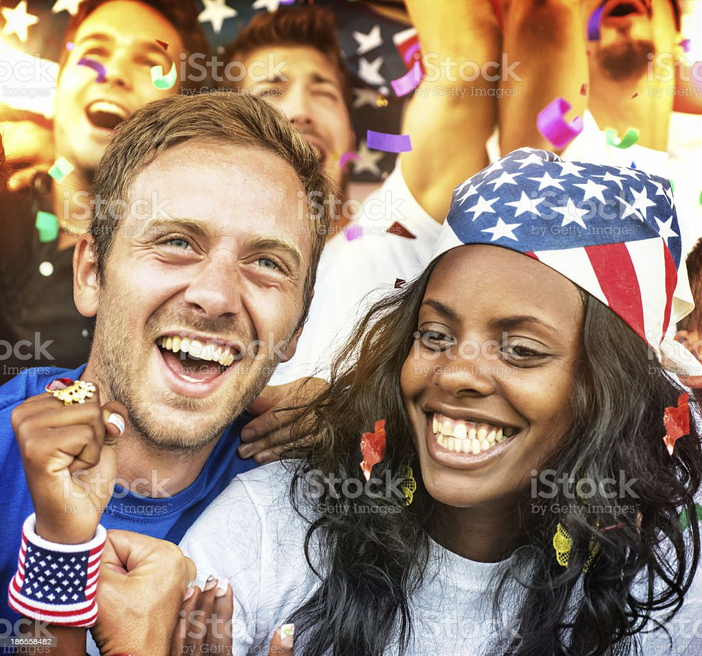 American Fans royalty-free stock photo