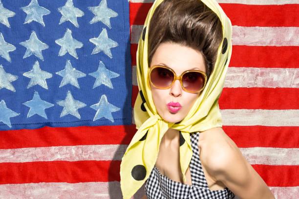 amerikanische mode frau - exklusive mode stock-fotos und bilder