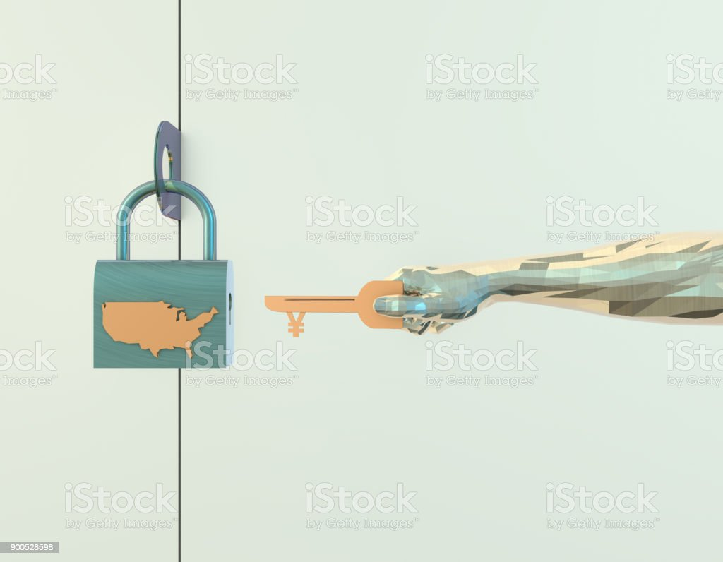 3D illustration, said the United States economy and national wealth,...