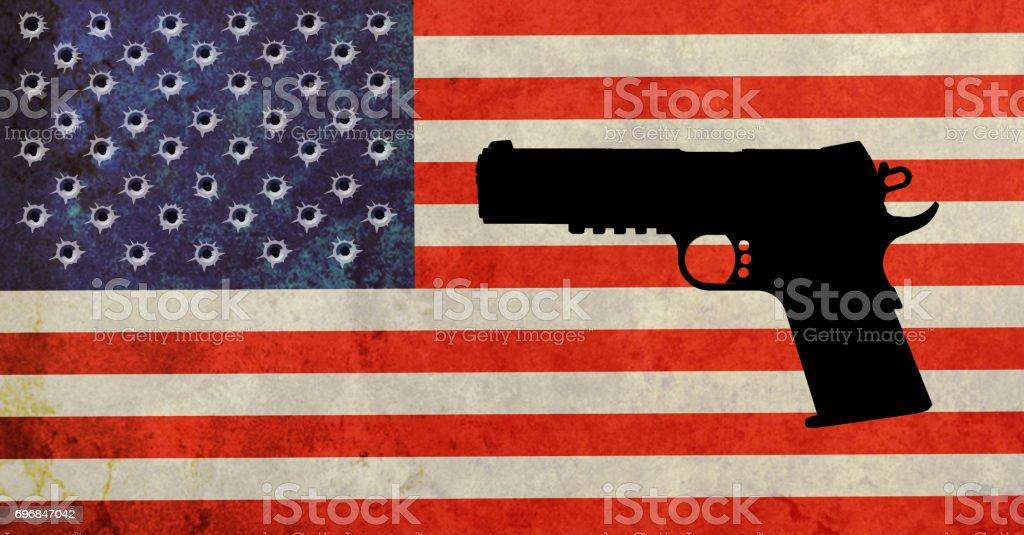 American firearm accident stock photo