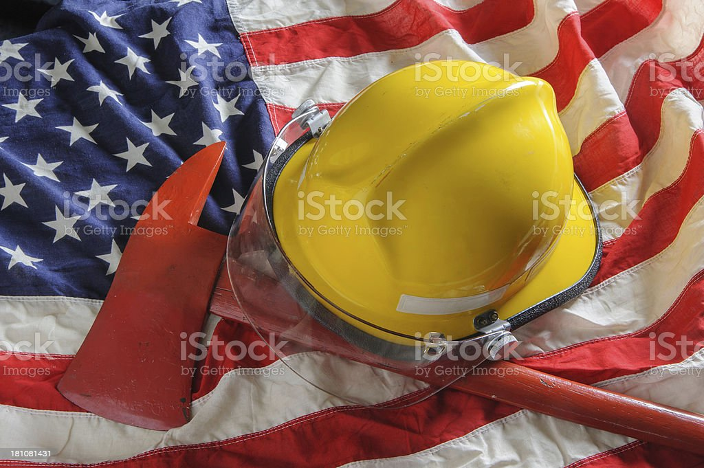 American firefighter stock photo