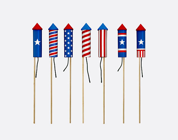 american fireworks - petard stock photos and pictures