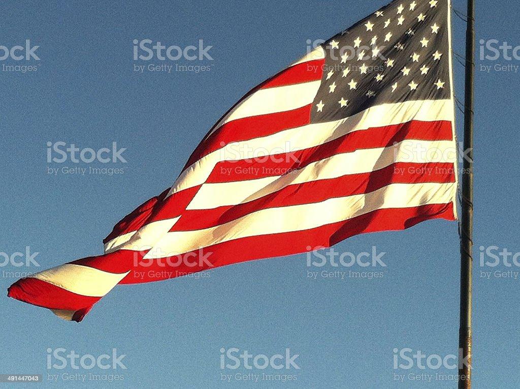 American Flag 01 stock photo