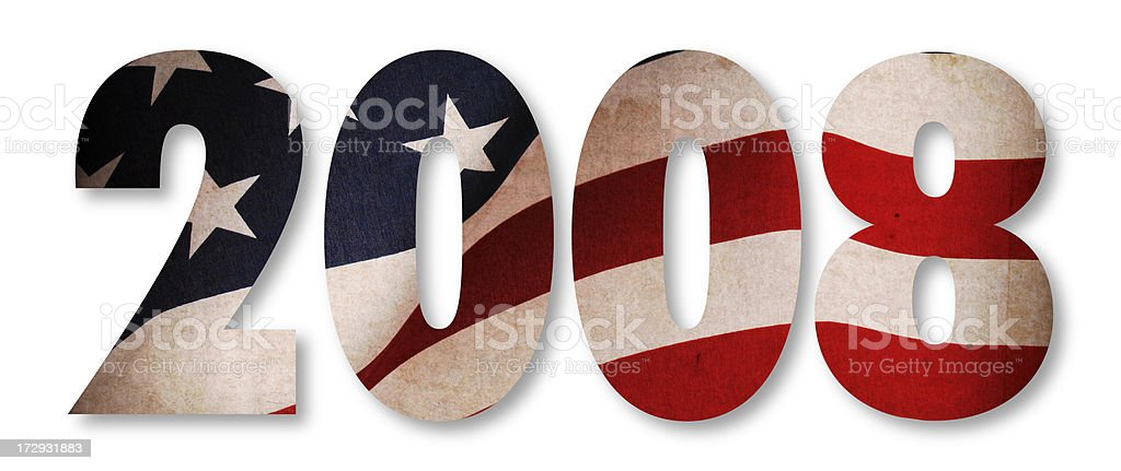 American Flag 2008 stock photo