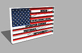 Ilustration of American Flag about Nixon controversial matters
