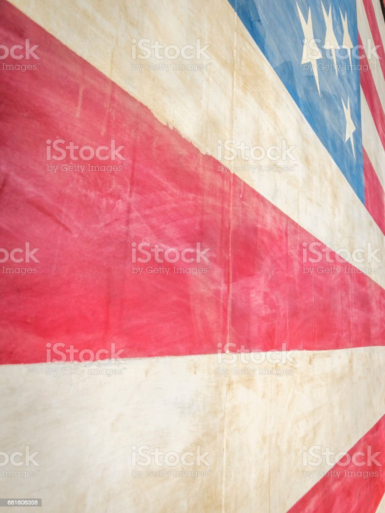 American Flag Abstract 1 - Stars & Stripes stock photo