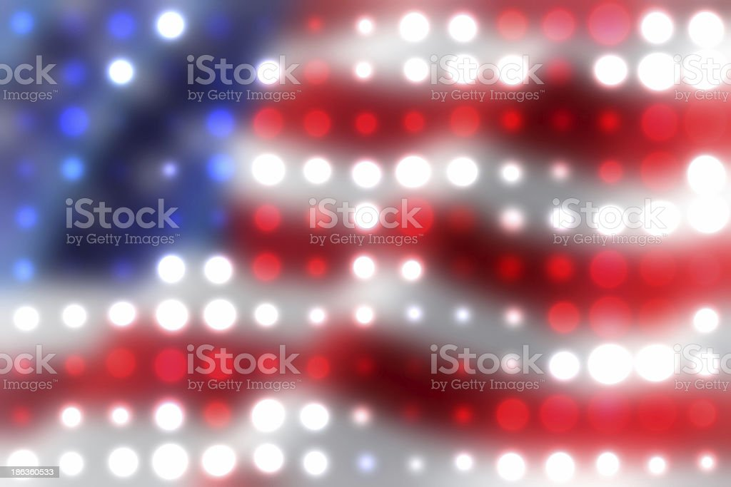 American flag abstract background stock photo