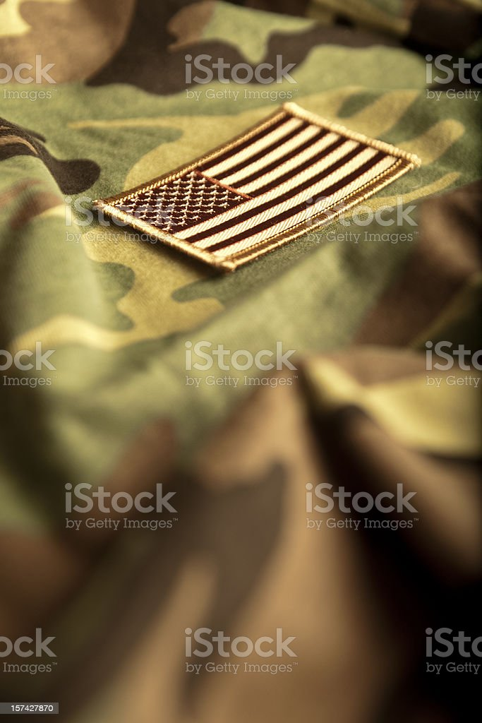 American Flag and Camoflage (Series) royalty-free stock photo