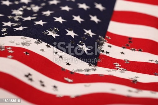 istock American flag and glitter stars 182483516