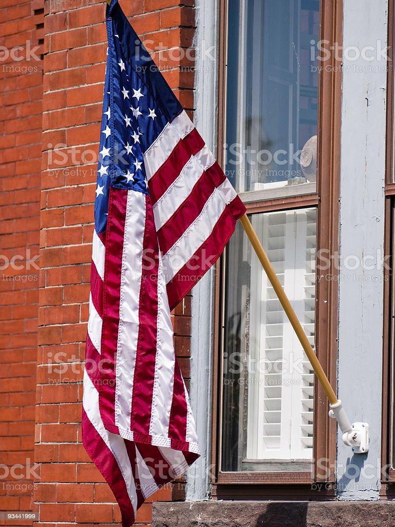 Amerikanische Flagge und Stolz Lizenzfreies stock-foto