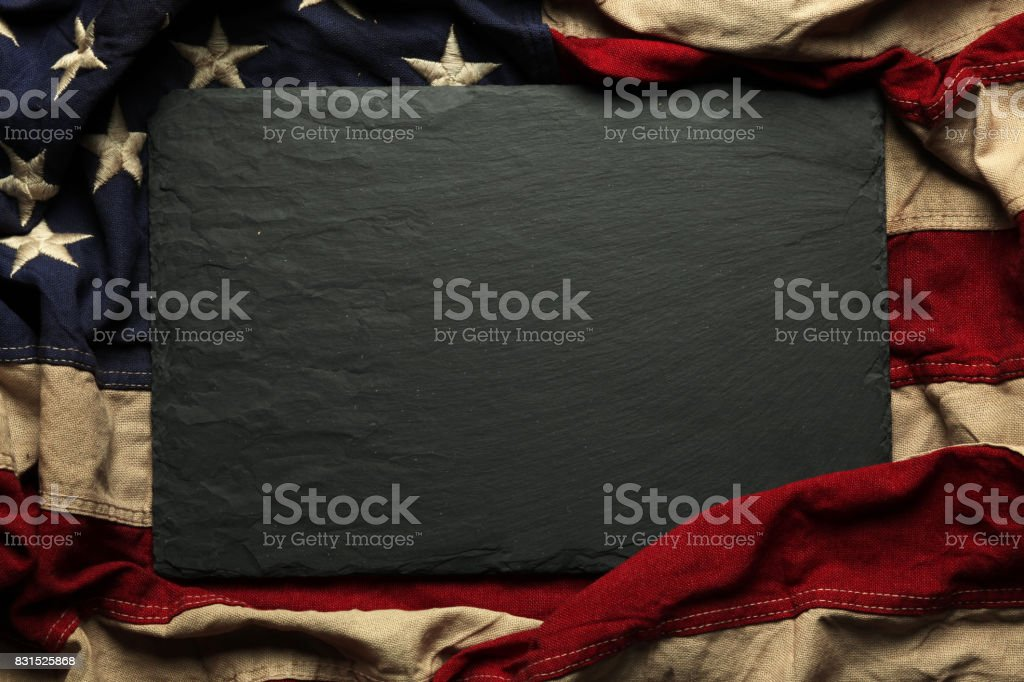 American flag background for Memorial Day or 4th of July stock photo