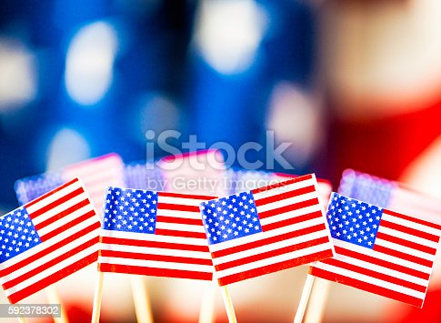 612818918 istock photo American flag background for patriotic American holidays 592378302