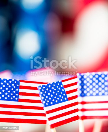 612818918 istock photo American flag background for patriotic American holidays 592378356