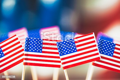 612818918 istock photo American flag background for patriotic American holidays 597246238