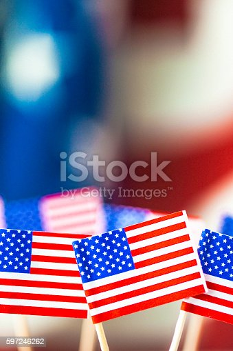 612818918 istock photo American flag background for patriotic American holidays 597246262